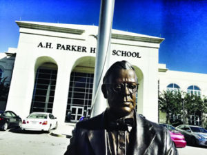 AHParker statue
