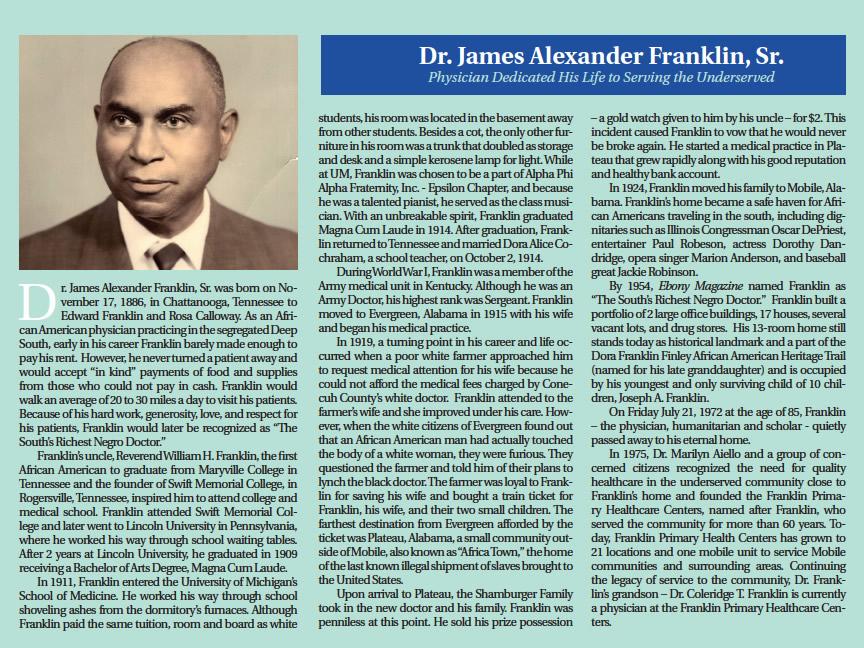 James Alexander Franklin, Sr., M.D.
